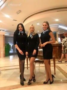 Наши хостес на мероприятии для Газпрома