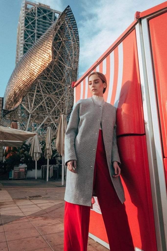 Наша модель съездила в Барселону на съемки -8